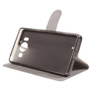 Horse PU kožené pouzdro na mobil Microsoft Lumia 950 - rose - 4