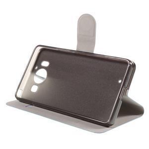 Horse PU kožené puzdro pre mobil Microsoft Lumia 950 - modré - 4