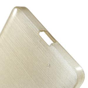 Brush hladký gélový obal pre Microsoft Lumia 950 - zlatý - 4