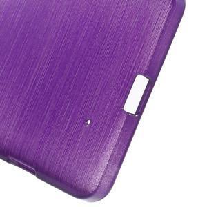 Brush hladký gélový obal pre Microsoft Lumia 950 - fialový - 4