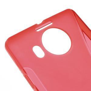 S-line gélový obal pre mobil Microsoft Lumia 950 XL - červený - 4