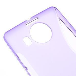 S-line gélový obal pre mobil Microsoft Lumia 950 XL - fialový - 4