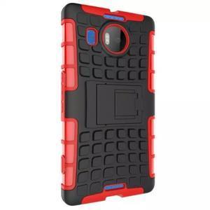 Odolný outdoor obal pre mobil Microsoft Lumia 950 XL - červený - 4