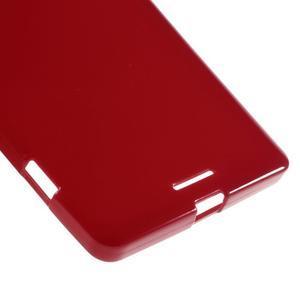 Jelly lesklý gélový obal pre mobil Microsoft Lumia 950 XL - červený - 4