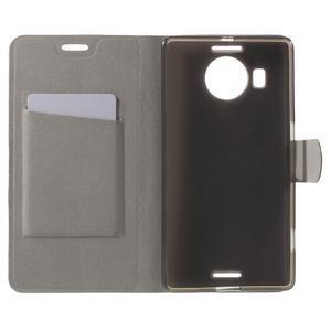 Horse peněženkové pouzdro na Microsoft Lumia 950 XL - hnědé - 4