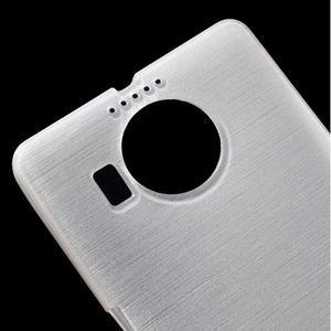 Brushed gélový obal pre mobil Microsoft Lumia 950 XL - biely - 4