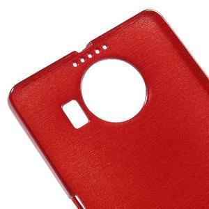 Brushed gélový obal pre mobil Microsoft Lumia 950 XL - červený - 4