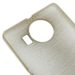 Brushed gélový obal pre mobil Microsoft Lumia 950 XL - zlatý - 4