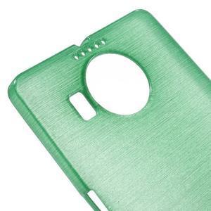 Brushed gélový obal pre mobil Microsoft Lumia 950 XL - cyan - 4