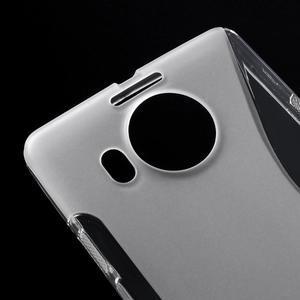 S-line gélový obal pre mobil Microsoft Lumia 950 XL - Transparentný - 4