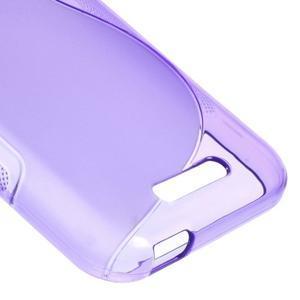 S-line gélový obal pre mobil HTC Desire 510 - fialový - 4
