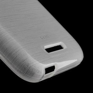 Brushed hladký gelový obal na HTC Desire 510 - transparentní - 4