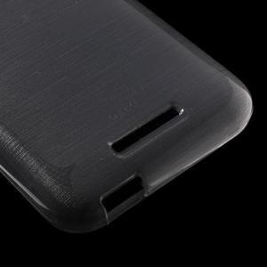 Brushed hladký gelový obal na HTC Desire 510 - šedý - 4