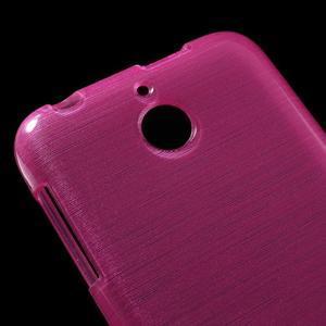 Brushed hladký gelový obal na HTC Desire 510 - rose - 4