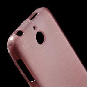 Brushed hladký gélový obal pre HTC Desire 510 - ružový - 4