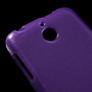 Brushed hladký gélový obal pre HTC Desire 510 - fialový - 4