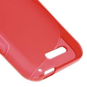 S-line gélový obal pre mobil HTC Desire 510 - červený - 4