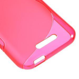 S-line gélový obal pre mobil HTC Desire 510 - rose - 4