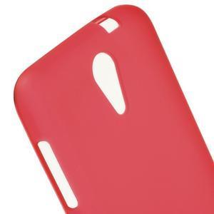 Matný gélový obal pre mobil HTC Desire 620 - červený - 4