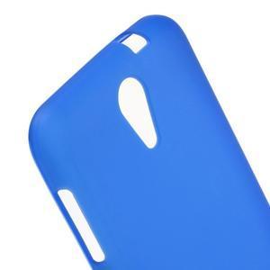 Matný gelový obal na mobil HTC Desire 620 - modrý - 4
