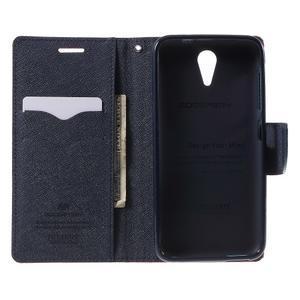 Diary PU kožené puzdro pre mobil HTC Desire 620 - červené - 4