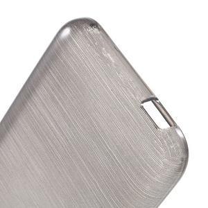 Brushed hladký gelový obal na HTC Desire 620 - šedý - 4