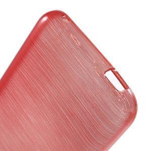 Brushed hladký gelový obal na HTC Desire 620 - červený - 4