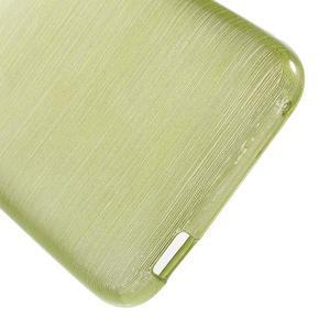 Brushed hladký gélový obal pre HTC Desire 620 - zelený - 4