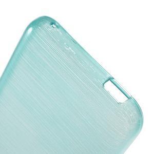 Brushed hladký gelový obal na HTC Desire 620 - modrý - 4