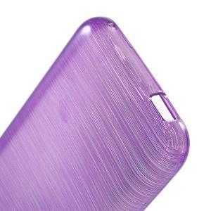 Brushed hladký gelový obal na HTC Desire 620 - fialový - 4
