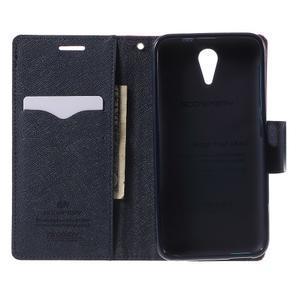 Diary PU kožené puzdro pre mobil HTC Desire 620 - rose - 4