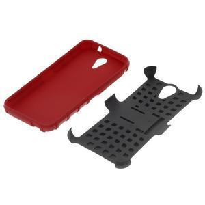 Outdoor odolný obal pre mobil HTC Desire 620 - červený - 4