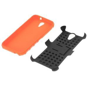 Outdoor odolný obal pre mobil HTC Desire 620 - oranžový - 4