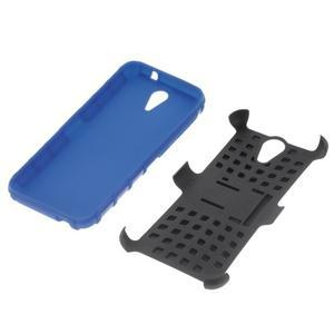Outdoor odolný obal na mobil HTC Desire 620 - modrý - 4