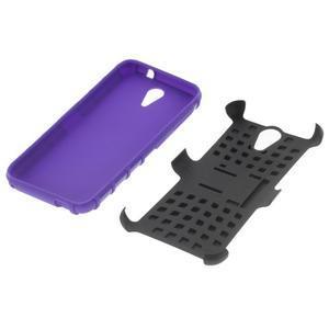 Outdoor odolný obal pre mobil HTC Desire 620 - fialový - 4