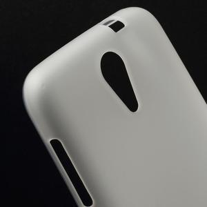 Matný gelový obal na mobil HTC Desire 620 - bílý - 4