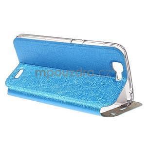 Klopové puzdro s okienkami na Huawei Ascend G7 - modré - 4