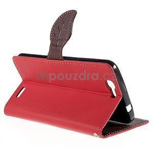 Červené peňaženkové puzdro na Huawei Ascend G7 - 4