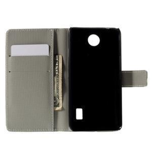 Peňaženkové puzdro Huawei Y635 - kvetinový vzor - 4