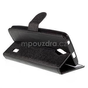 PU kožené čierne puzdro so zapínaním Huawei Y635 - 4