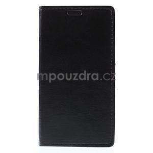 Peňaženkové kožené puzdro na Microsoft Lumia 640 - čierné - 4