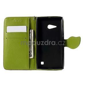 PU kožené púzdro so zapínaním na Nokia Lumia 730/735 - hnedé - 4