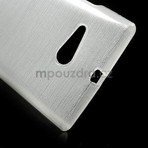 Gélový obal Brush na Nokia Lumia 730/735 -biely - 4