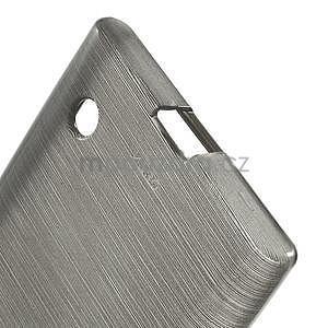 Gélový obal Brush na Nokia Lumia 730/735 - sivý - 4