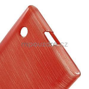 Gélový obal Brush na Nokia Lumia 730/735 - červený - 4