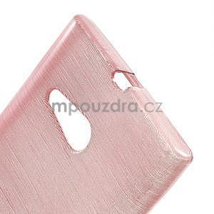 Gélový obal Brush na Nokia Lumia 730/735 - ružový - 4