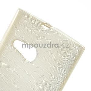 Gélový obal Brush na Nokia Lumia 730/735 - champagne - 4
