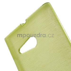 Gélový obal Brush na Nokia Lumia 730/735 - zelený - 4