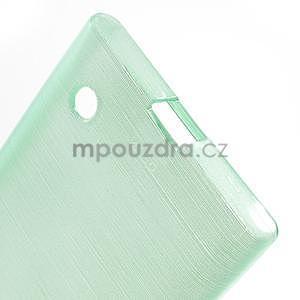Gélový obal Brush na Nokia Lumia 730/735 - azúrový - 4