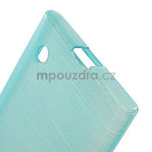 Gélový obal Brush na Nokia Lumia 730/735 - modrý - 4